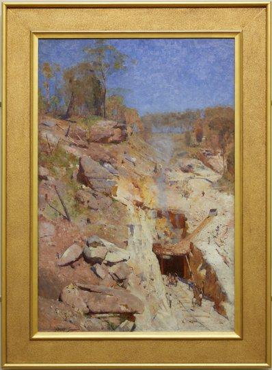 AGNSW collection Arthur Streeton Fire's on (1891) 832