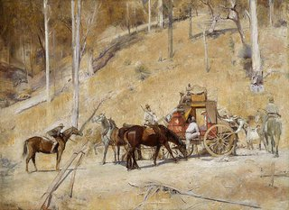 Bailed up, (1895, 1927) by Tom Roberts