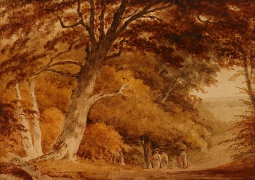 An image of Autumn trees by Unknown, after Henry Edridge