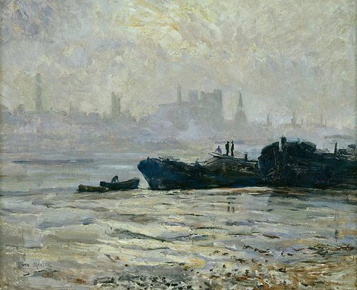 An image of Thames at Chelsea Reach by Dora Meeson