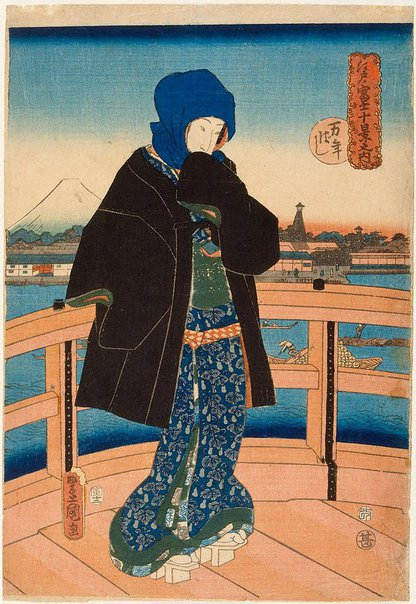 An image of Mannen Bridge by Utagawa Kunisada/Toyokuni III