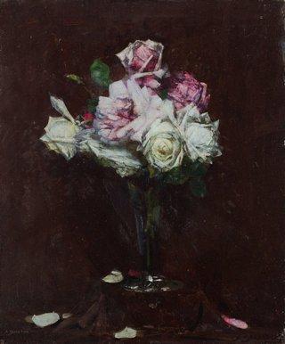 AGNSW collection Arthur Streeton Roses circa 1929