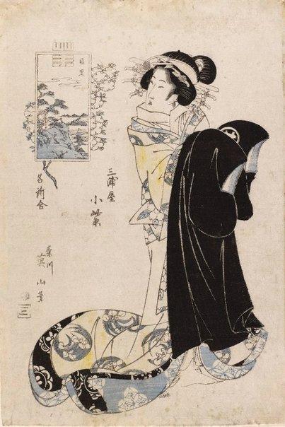 An image of Miura-ya Komurasaki by Kikukawa Eizan