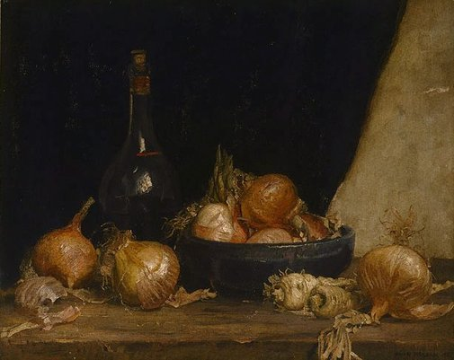An image of Onions by Hans Heysen