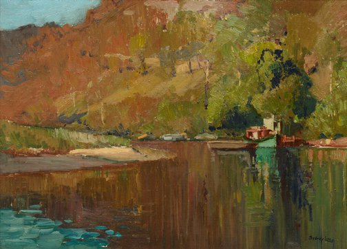An image of Reflections, McDonald River by Sydney Long