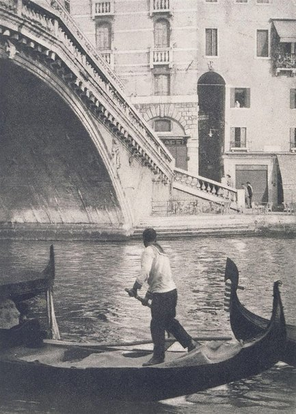 An image of The Rialto, Venice by George James Morris