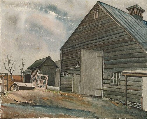An image of American barn by John D. Moore