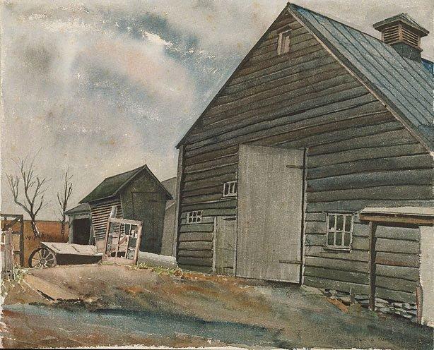 An image of American barn