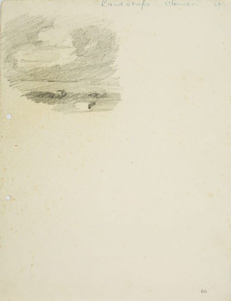 An image of Landscape with clouds by Lloyd Rees