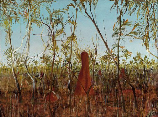 An image of Dry jungle by Sidney Nolan