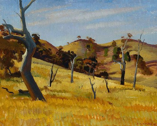 An image of Sheep country, Burra by Douglas Dundas
