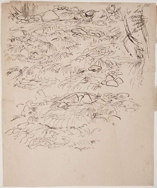 An image of (Rocks and water) (Landscapes and natives from New Guinea)
