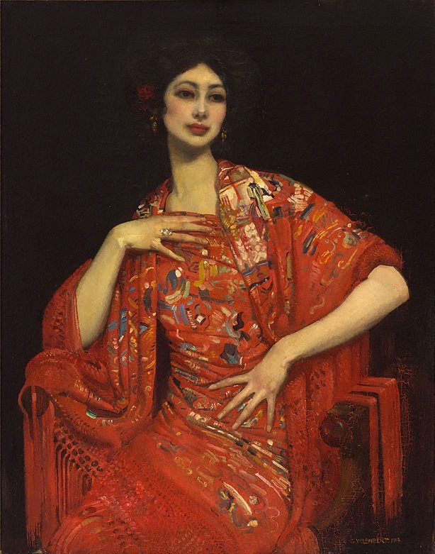 The red shawl, (1913) by George W Lambert