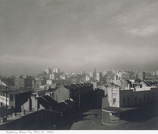 An image of Sydney from the Rocks by Max Dupain
