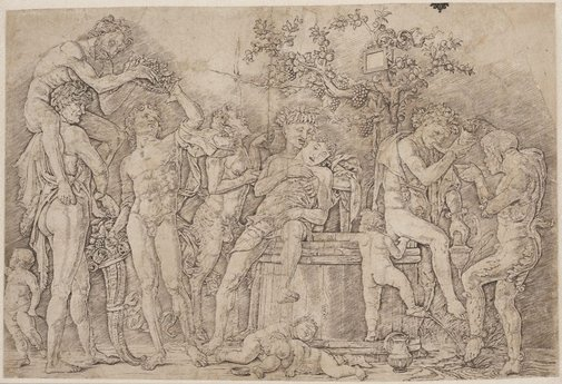 An image of Bacchanal with a wine vat by Andrea Mantegna