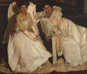 The sisters, 1904 by Hugh Ramsay