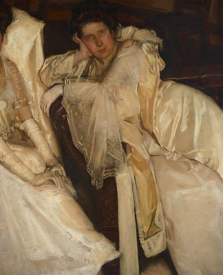 Alternate image of Two girls in white by Hugh Ramsay