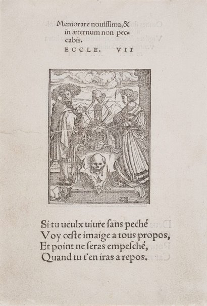 An image of The Escutcheon of Death by Hans Lützelburger, after Hans Holbein the Younger