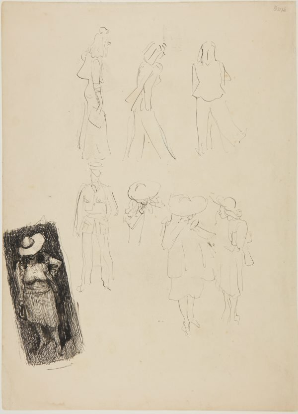 An image of Sketches of people