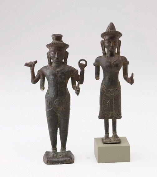 An image of Vishnu and Devi by