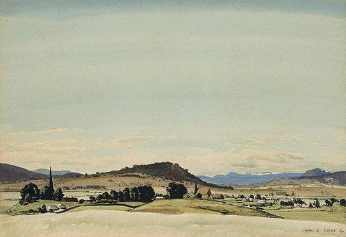 An image of Monaro landscape by John D. Moore