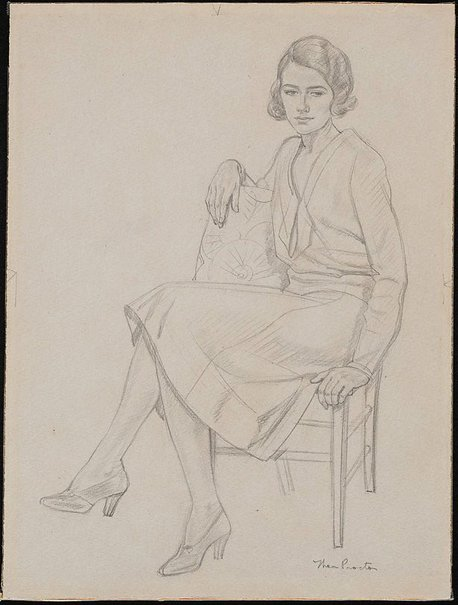 An image of Sylvia Moore Sims by Thea Proctor