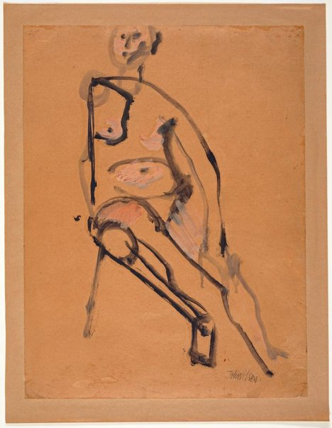 An image of Seated nude by John Olsen