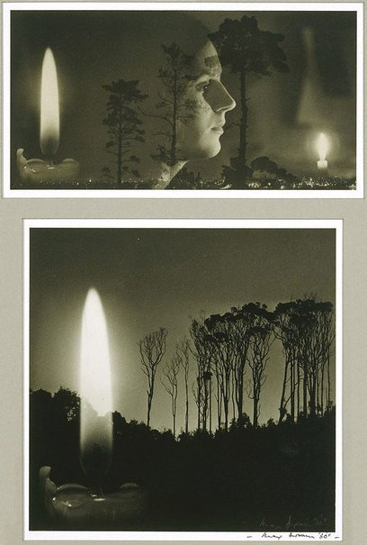 An image of Untitled (Pain, face and candles) by Max Dupain