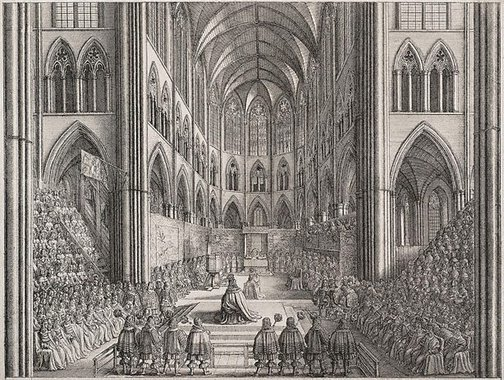 An image of Coronation of Charles II by Wenceslaus Hollar