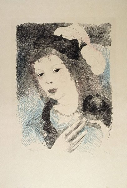 An image of Bon-bon by Marie Laurencin