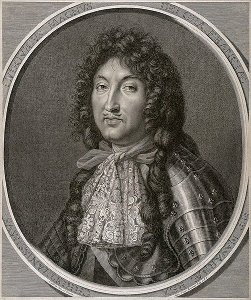 An image of Louis XIV by Etienne Picart, after Charles Le Brun