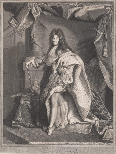 An image of Louis Le Grand by Pierre Drevet, after Hyacinthe Rigaud