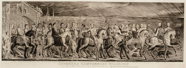 An image of Chaucer's Canterbury pilgrims