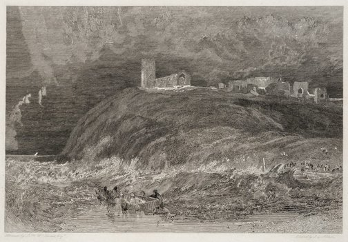 An image of Dunwich (Now in the sea) by James C Allen, after Joseph Mallord William Turner