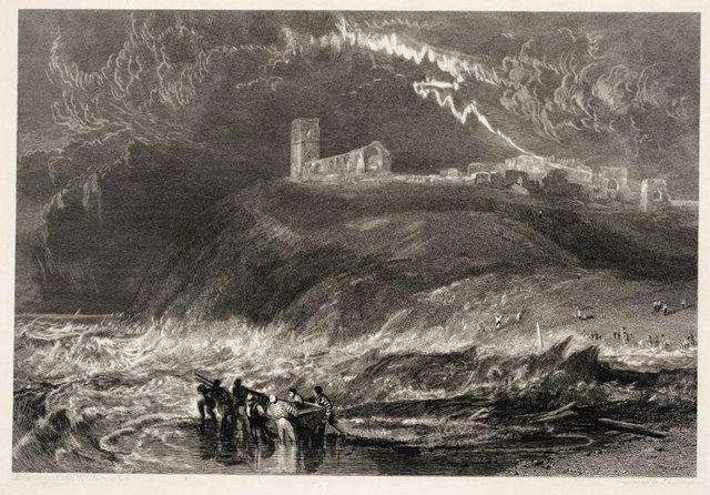 An image of Dunwich (Now in the sea)