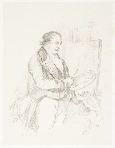 An image of (Portrait of J.M.W. Turner) by Henry Edridge