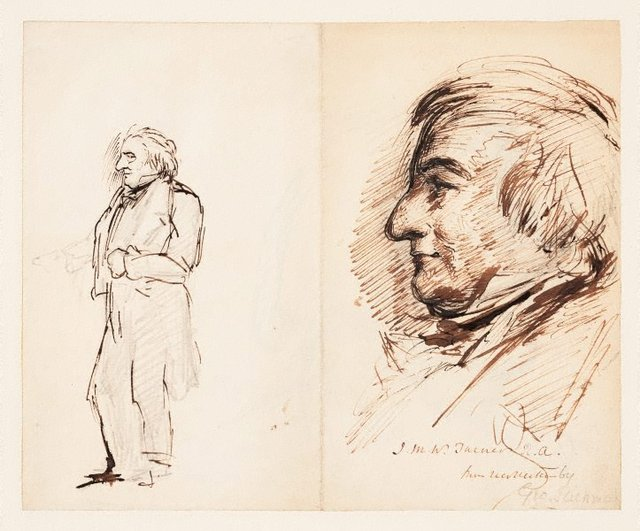 An image of (Portrait of J.M.W. Turner from recollection)