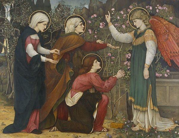 """An image of """"Why seek ye the living among the dead?"""" St Luke 24 v5"""