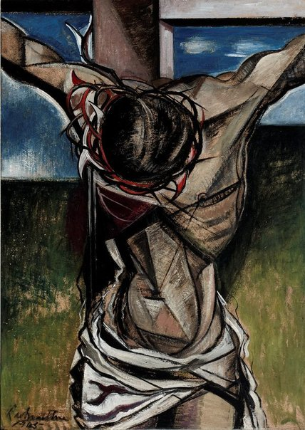 An image of The crucifixion by Roy de Maistre