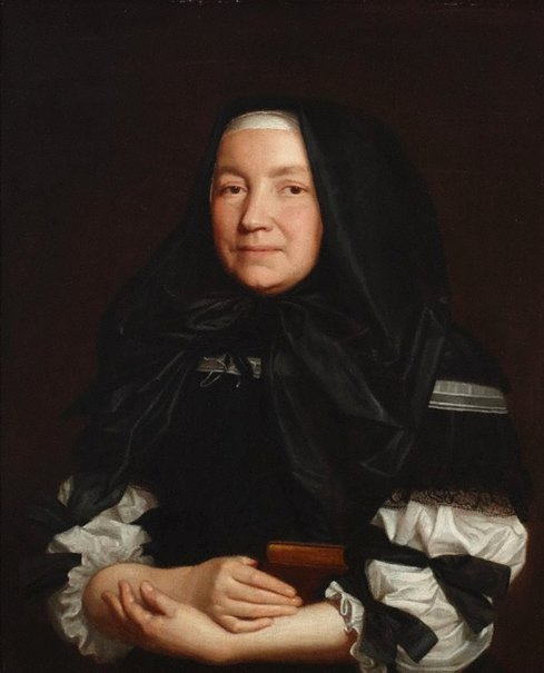 An image of Portrait of an English widow by attrib. Pieter Borsseler