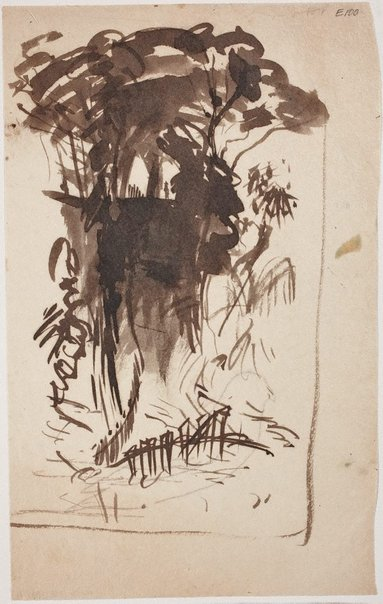 An image of (Landscape) (Landscapes and natives from New Guinea) by William Dobell