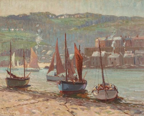 An image of Low tide, St. Ives by Charles Bryant