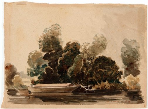 An image of The Thames at Kew by John D. Moore