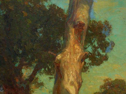 Alternate image of Hauling timber by Hans Heysen