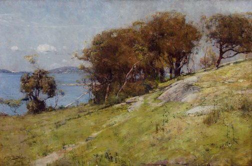 An image of Cremorne pastoral by Arthur Streeton