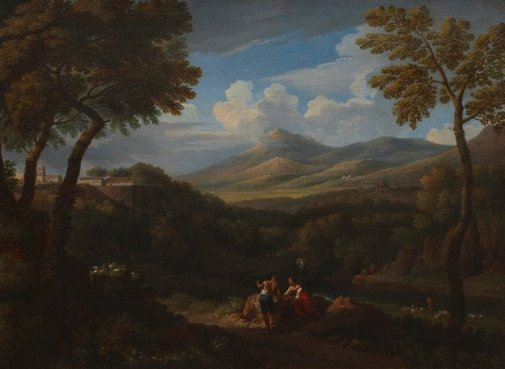 An image of In the Campagna by Jan Frans van Bloemen