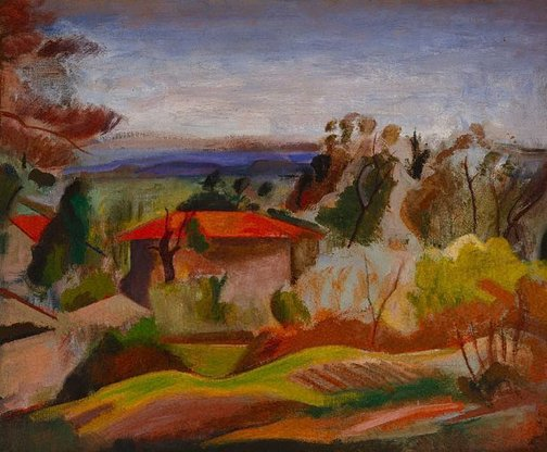 An image of Near Cagnes by Bernard Meninsky
