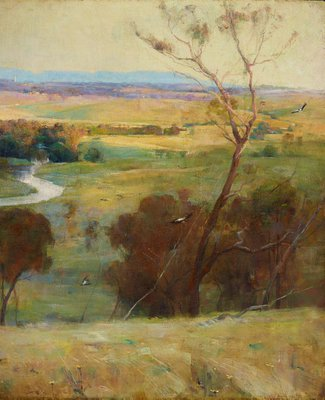 Alternate image of 'Still glides the stream, and shall for ever glide' by Arthur Streeton
