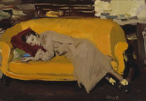 An image of Yellow couch by William Dargie