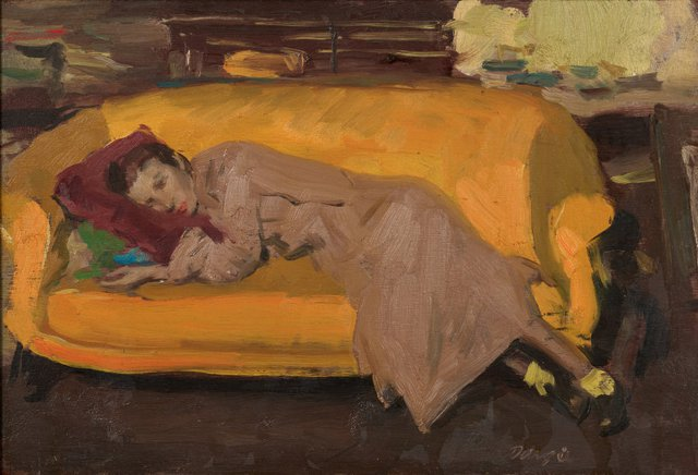 An image of Yellow couch